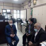 نشست صمیمی و مشترک شریف آهی شهردار آبعلی با آقای شجاع رئیس بانک ملی شعبه آبعلی